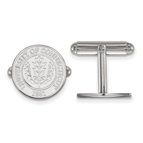 Sterling Silver University of Connecticut Crest Cuff Link