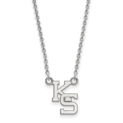 14kw LogoArt Kansas State University Small Pendant w/Necklace