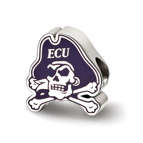 Sterling Silver LogoArt East Carolina University Primary Enameled Bead