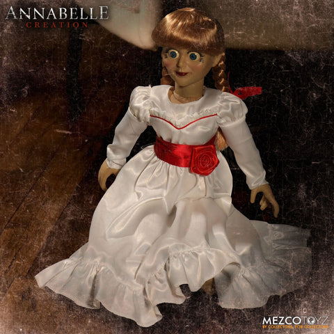 "Mezco Annabelle Conjuring Creation Doll 18"" Prop Replica Figure - Collectors Row Inc."