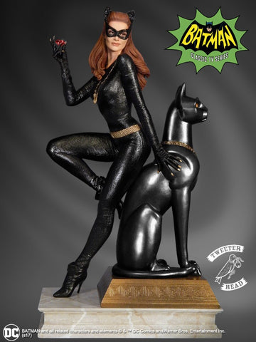 Julie Newmar Catwoman Batman Maquette Statue Ruby Edition by Tweeterhead - Collectors Row Inc.