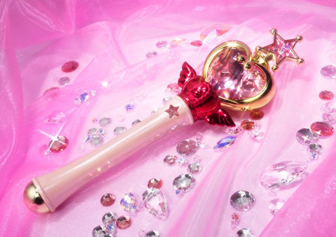 Bandai Sailor Moon PROPLICA Pink Moon Stick Authentic USA Cosplay Prop - Collectors Row Inc.
