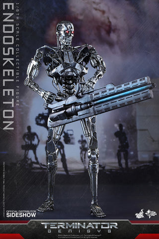 Terminator Genisys Endoskeleton T-800 Movie Masterpiece Series - Sixth Scale Figure by Hot Toys - Collectors Row Inc.
