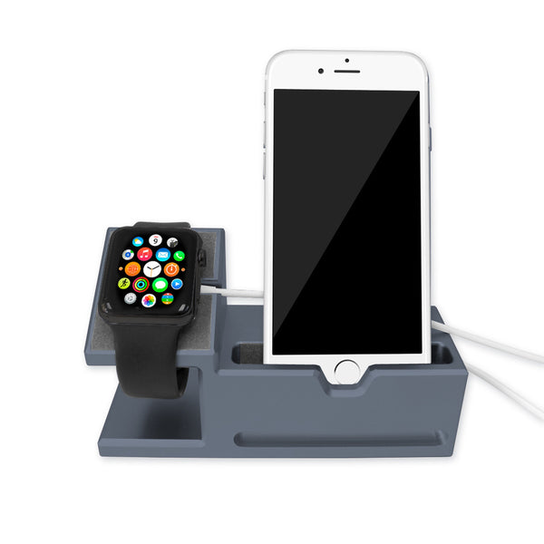 Aluminium Dock Station for iPhone and Apple Watch - Grey