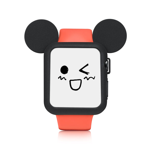 Black Cute Cartoon Mouse Ears Soft Silicone Protective Case for Apple Watch / Apple Watch Sport ( 42mm / 38mm)