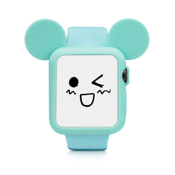 Green Cute Cartoon Mouse Ears Soft Silicone Protective Case for Apple Watch / Apple Watch Sport ( 42mm / 38mm)