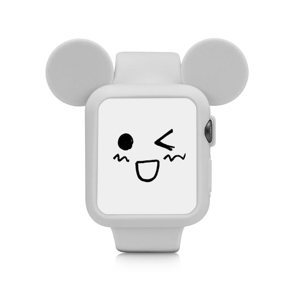 Gray Cute Cartoon Mouse Ears Soft Silicone Protective Case for Apple Watch / Apple Watch Sport ( 42mm / 38mm)