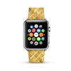 Golden Yellow Mosaic Tiles Pattern Watch Band Strap for Apple Watch -  38mm / 40mm  , 42mm / 44mm