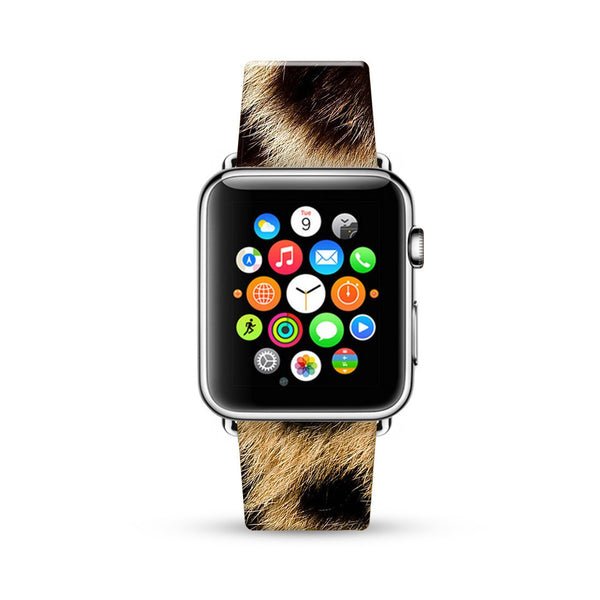 Brown Leopard Pattern Watch Band Strap for Apple Watch -  38mm / 40mm  , 42mm / 44mm