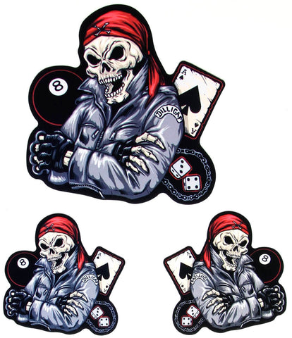 Dilligaf Biker Skeleton Sticker Set, Lifestyle Accessories - Fat Skeleton UK