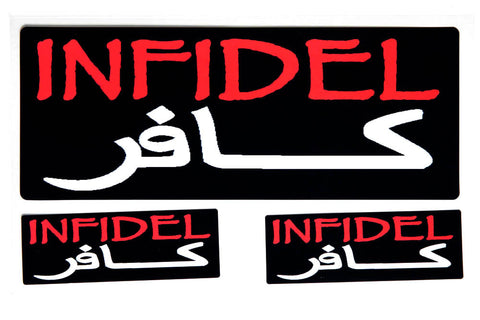 Infidel in Arabic Sticker Set
