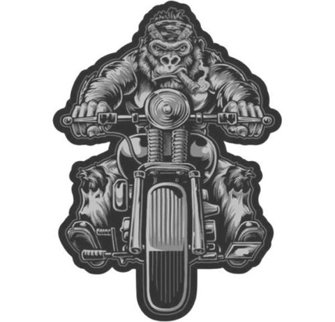 Lethal Threat Bobber Biker Gorilla LARGE sew on patch