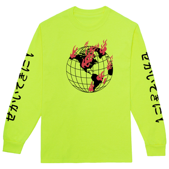 World On Fire Long Sleeve Tshirt
