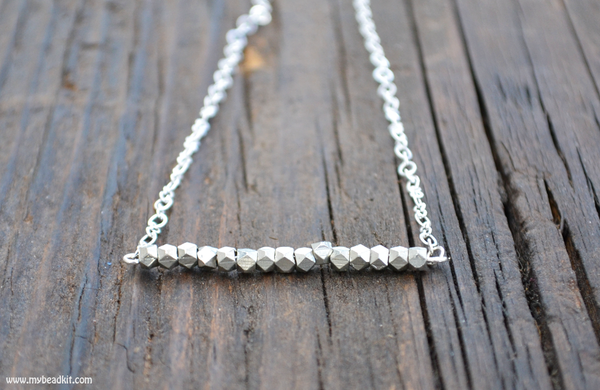 SALE! Simple Beauty Bead & Chain Minimalist Necklace Kit - Silver Plated