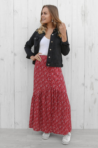 SALE - runaway floral maxi skirt