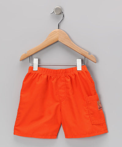 Lifeguard Orange Quick Dry Short
