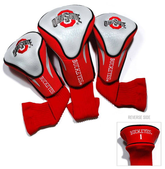 Ohio State Buckeyes Golf Club 3 Piece Contour Headcover Set (CDG)