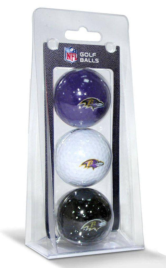 Baltimore Ravens 3 Pack Multicolor Golf Balls
