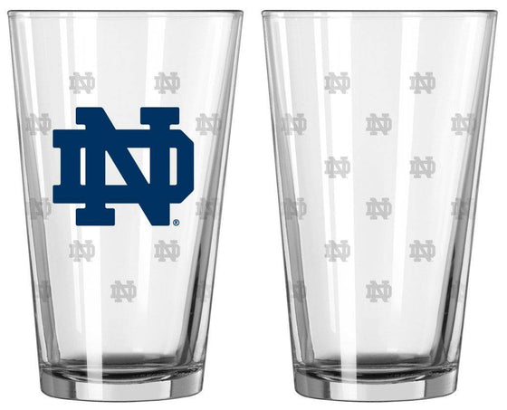 Notre Dame Fighting Irish Satin Etch Pint Glass Set (CDG)