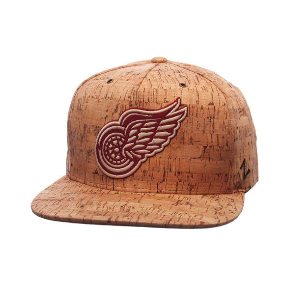 NHL Detroit Red Wings Cork Dynasty Adjustable Snapback Hat