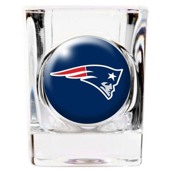 NFL New England Patriots Square 2 oz Shot Glass