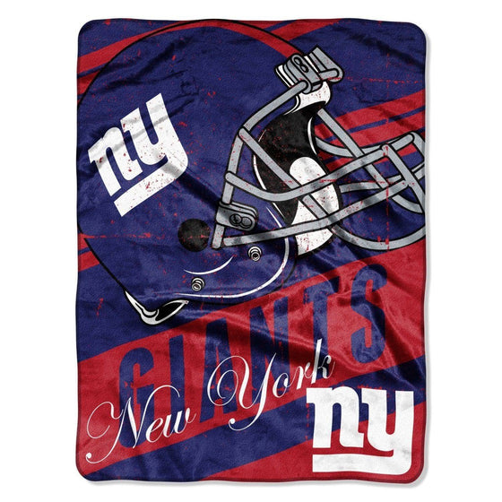 NFL New York Giants NFL Deep Slant 46 x60 Micro Raschel Throw Plush Blanket