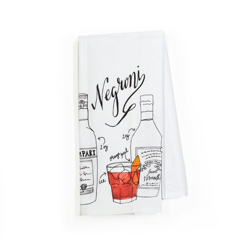 Negroni Classic Cocktail Tea Towel
