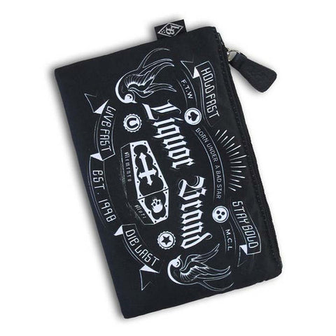 Liquorbrand Women's Stay Gold Travel Purse/Cosmetic Bag - Musink