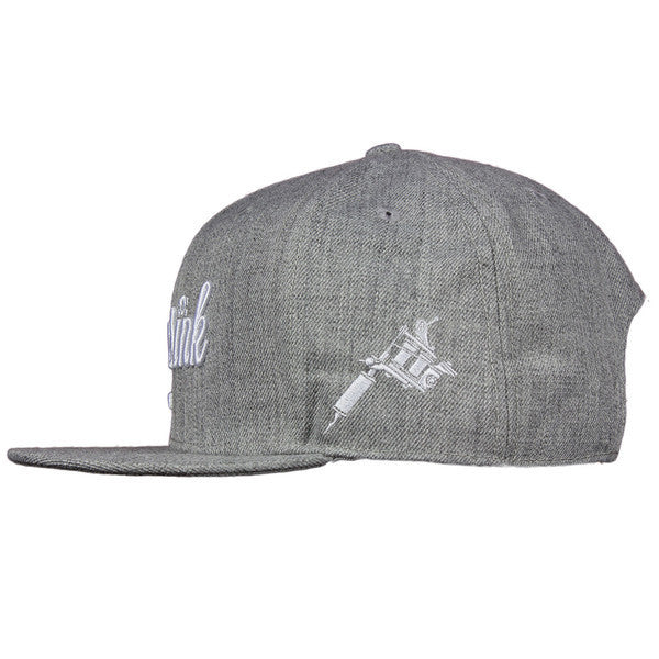 Musink Machine Grey/White Snapback Cap - Musink