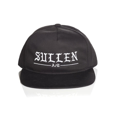 Sullen Rough Black Snapback Cap - Musink