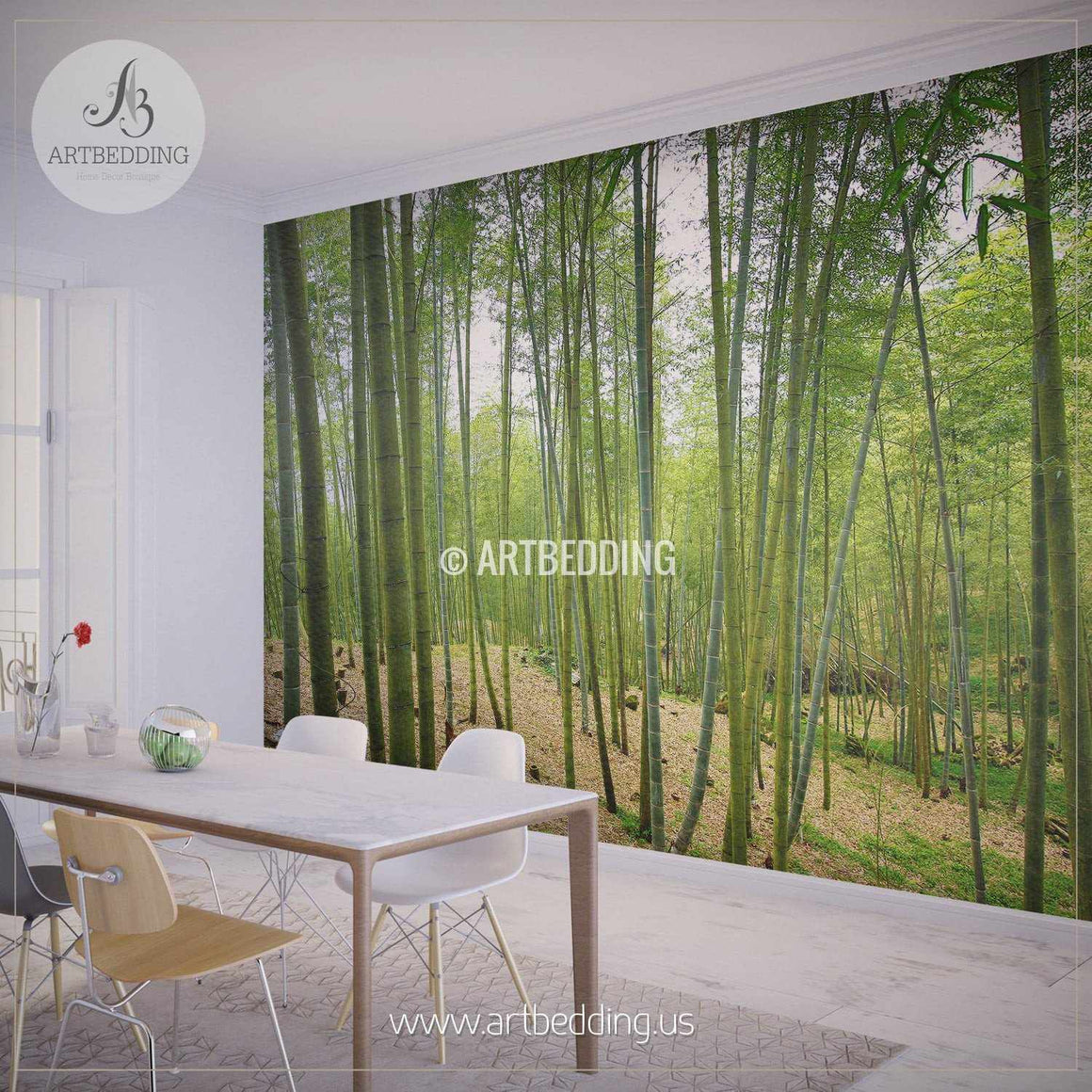 Bamboo Forest Self Adhesive Peel & Stick, Nature wall mural wall mural