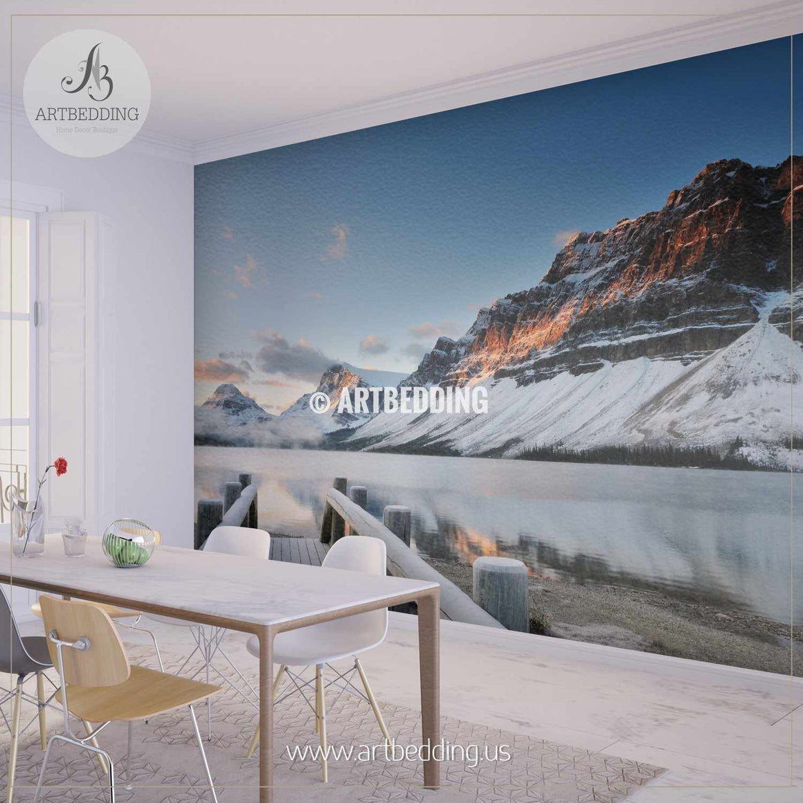 Banff National Park, Canada Wall Mural, Self Adhesive Peel & Stick wall mural wall mural