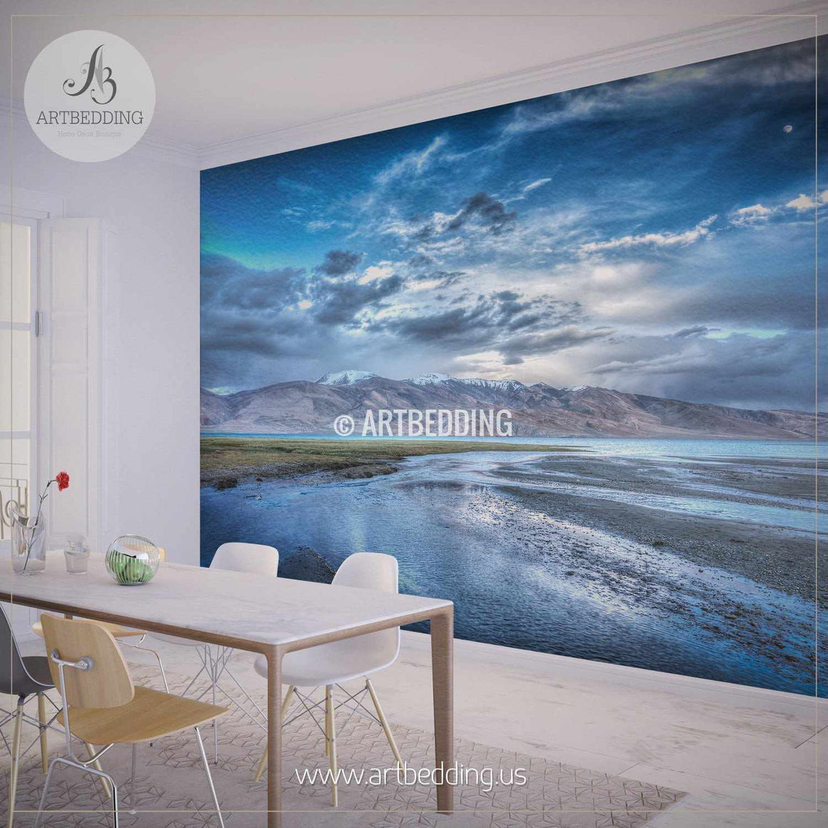 Beautiful Mountain Landscape Wall Mural, Self Adhesive Peel & Stick Photo Mural, Nature photo mural home decor wall mural