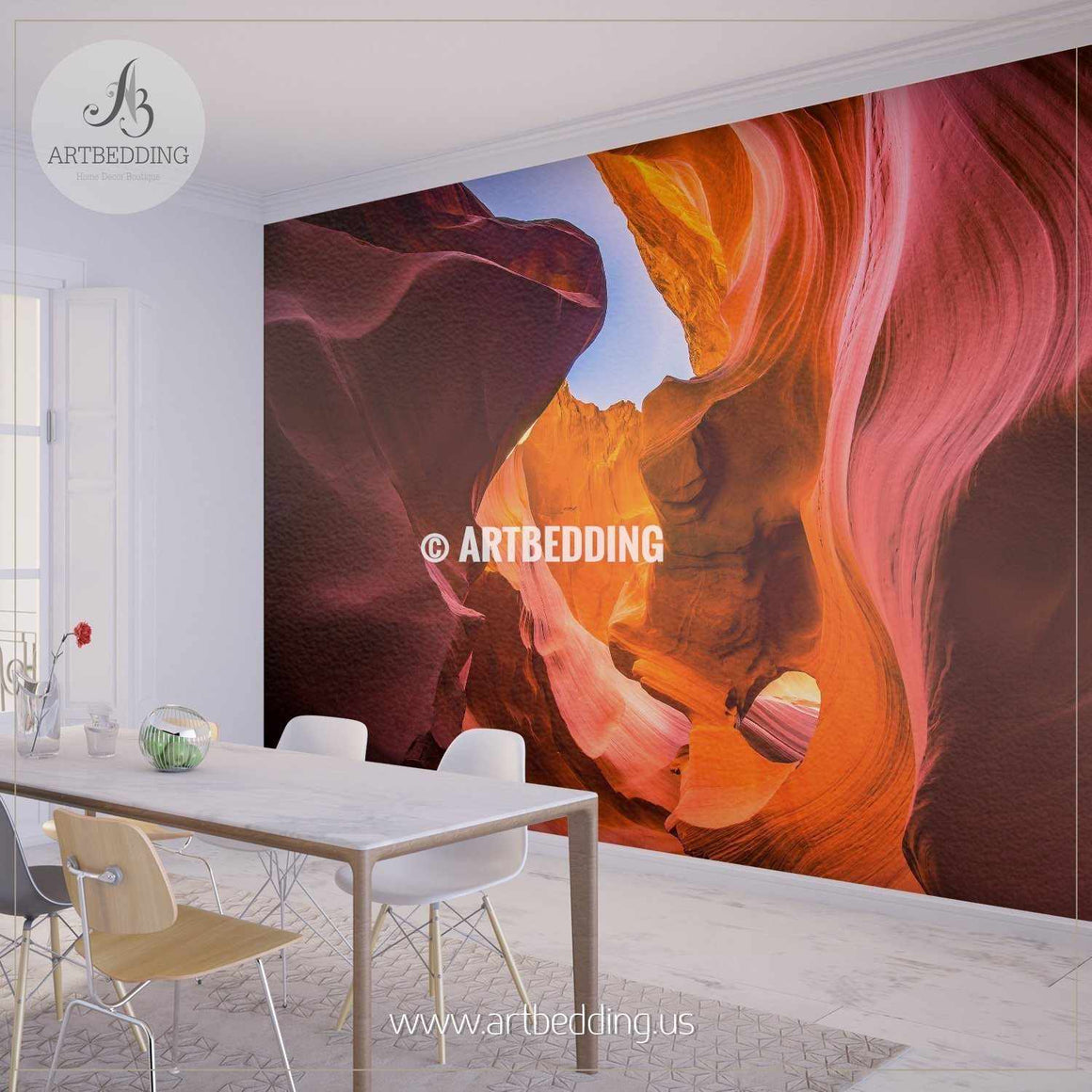 Lower Antelope Canyon in Arizona, USA Self Adhesive Peel & Stick, Nature wall mural wall mural