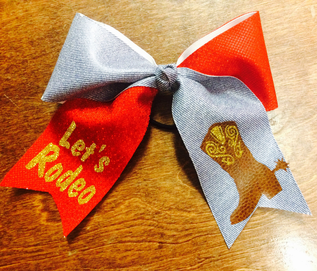 Cowgirl Western Cheer Bow