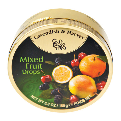Cavendish & Harvey - Mixed Fruit Drops 5.3 oz Tin