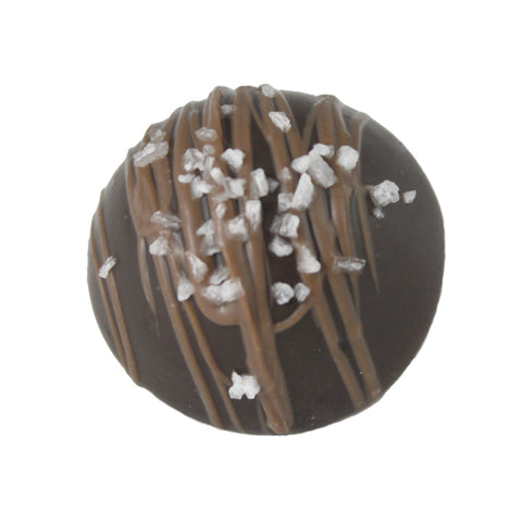 Large Dark Sea Salt Caramel Truffle
