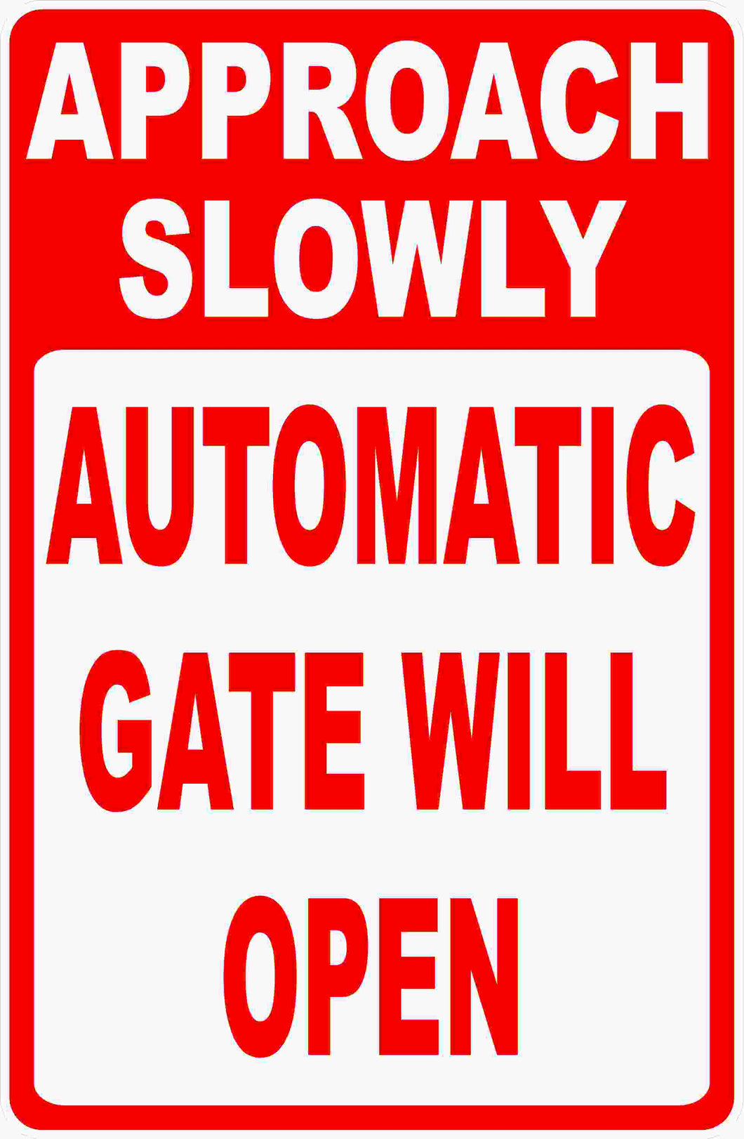 Gated Community Safety Sign
