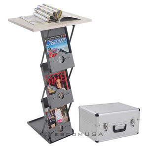 Folding Collapsible Literature Stand Display Podium