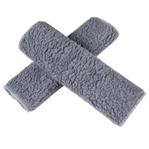 2pcs Safety Seatbelt Strap Cover Shoulder Cushion Pad Gray