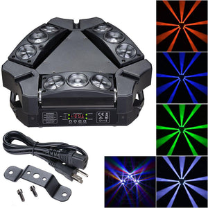 9x10w Mini LED Moving Head Sipder Beam Light RGBW DMX512