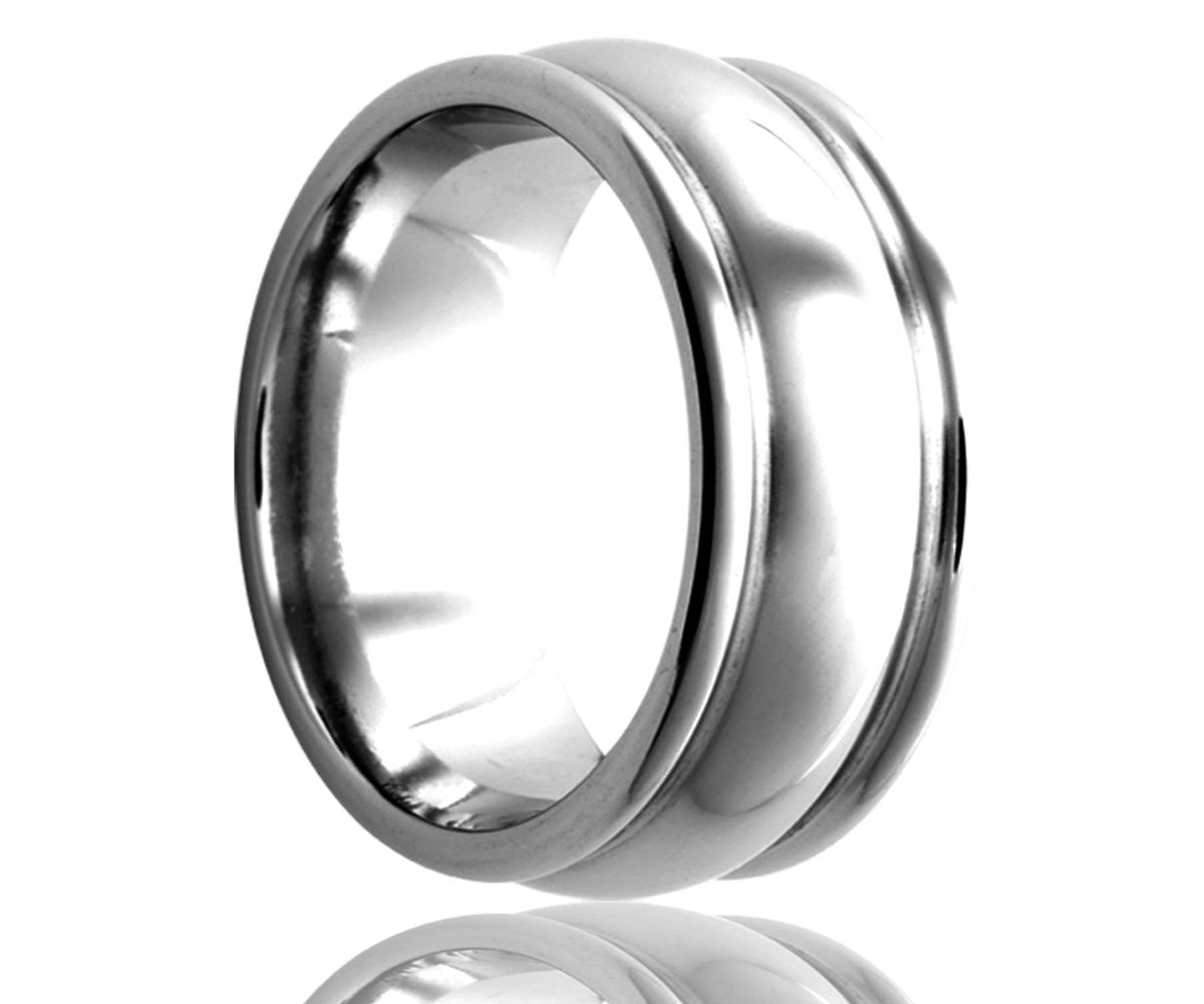 Cobalt Double Deep Groove Ring
