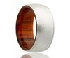 Cobalt Cocobolo Wood Inlay Ring