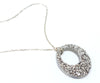 Open Oval Platinum Druzy Necklace