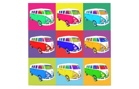 Fun Camper Van Pop Art Canvas  28 cm x 28 cm