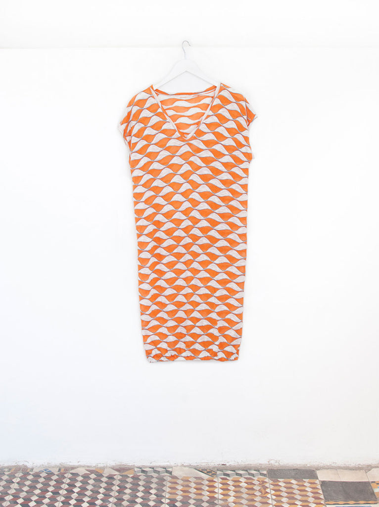 Leila Nemo T-shirt Sleeve Designer Beachwear Dress