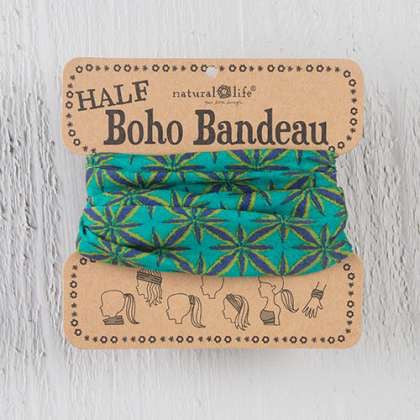 Green lime bursts half boho bandeau