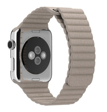 APPLE WATCH BAND 42mm STONE LEATHER LOOP