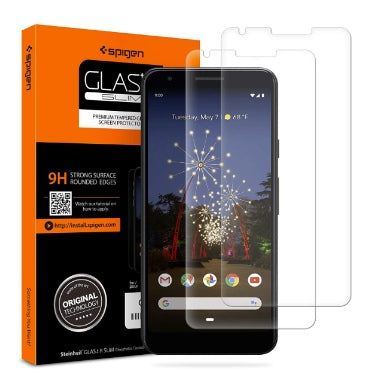 GOOGLE PIXEL 3A XL PREMIUM TEMPERED GLASS SCREEN PROTECTOR 9H 2PK | SPIGEN