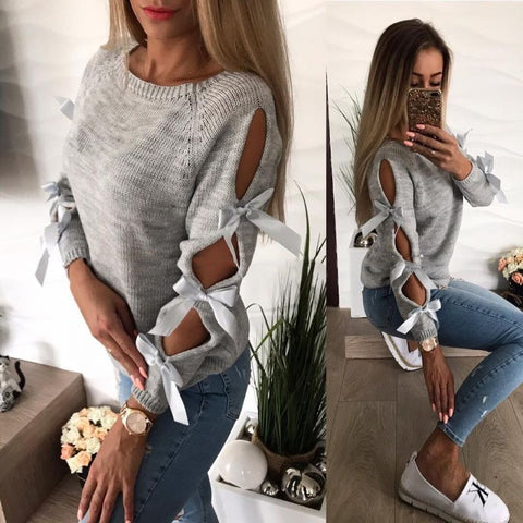 Bow Tie Sleeve Sweater